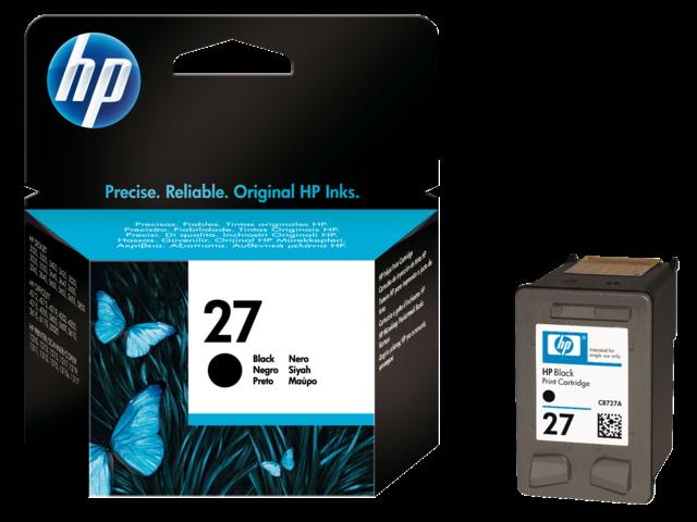 Inkcartridge hp c8727a 27 zwart