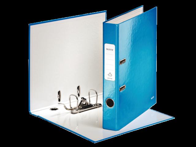 Ordner leitz wow 1006 50mm karton blauw