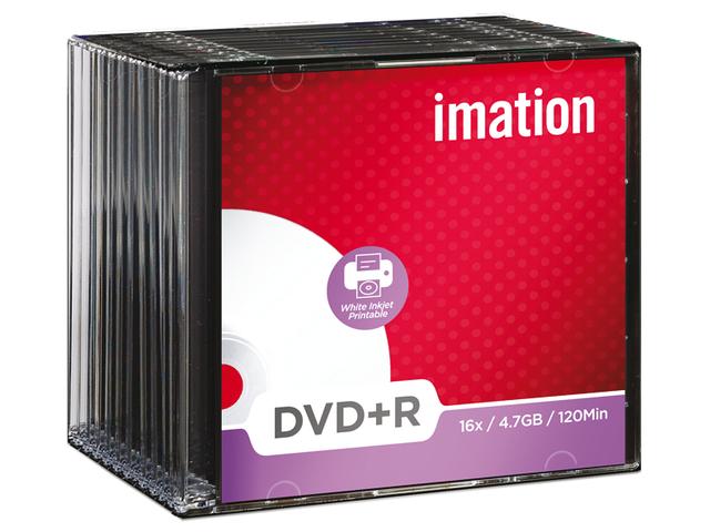 Dvd+r imation 16x 4.7gb printbaar 10stuks