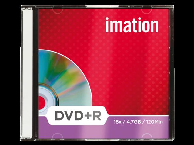 Dvd+r imation 16x 4.7gb slimline 10stuks