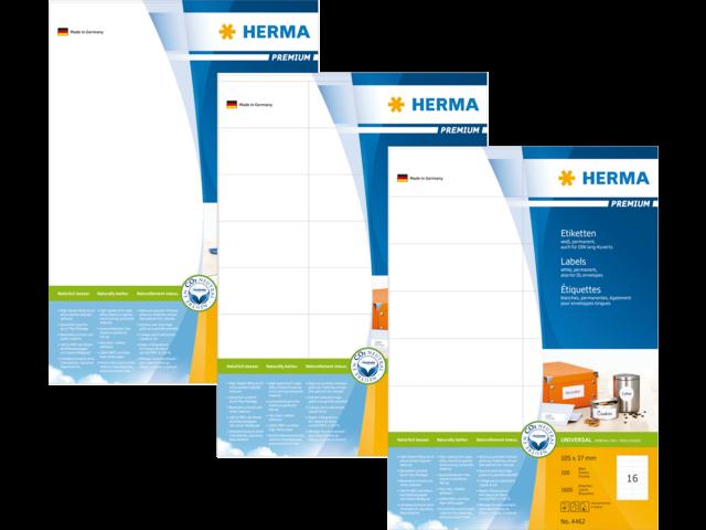 Etiket herma 5081 105x42.3mm premium a4 350st