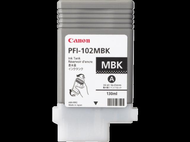 Inkcartridge canon pfi-102mbk mat zwart