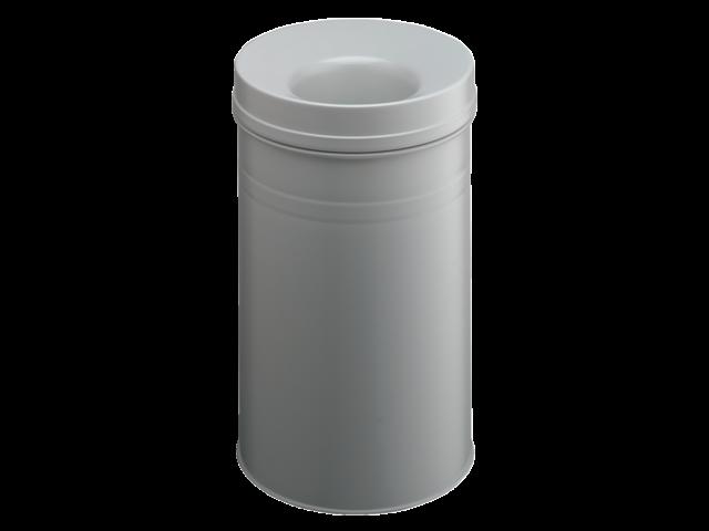 Papierbak met vlamdover durable 3326-10 30liter lichtgrijs