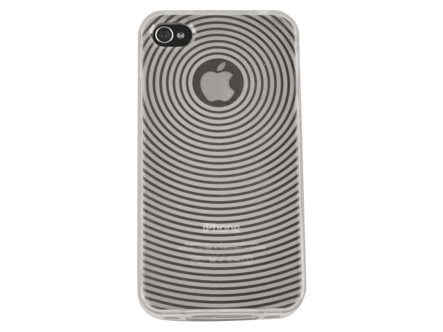 Telefoonhoes dresz tpu grip case iphone 4/4s grijs