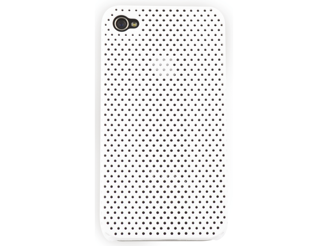 Telefoonhoes dresz iphone 4/4s perforated wit
