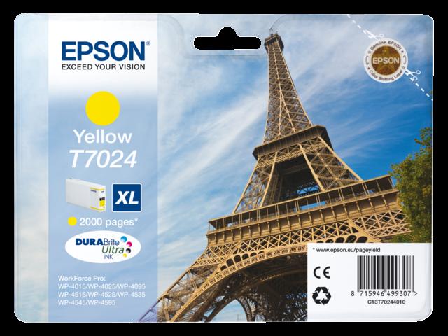 Inkcartridge epson t702440 geel hc