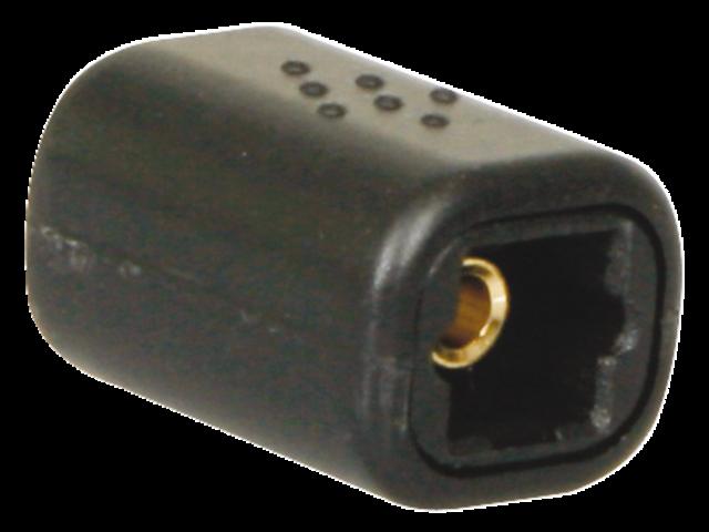 Kabel icidu audio toslink coupler f/f zwart