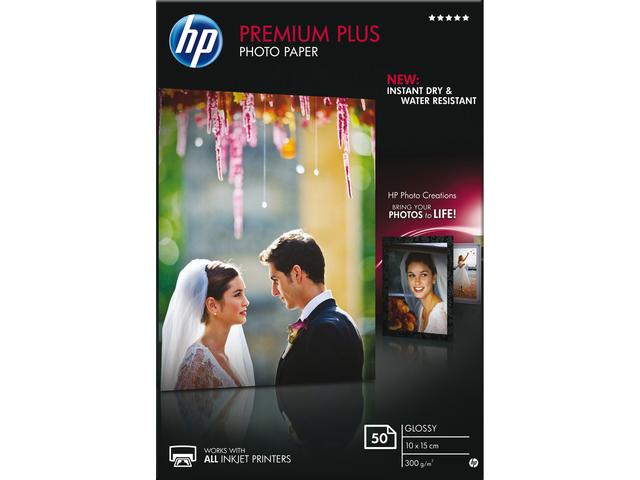 Inkjetpapier hp cr695a 10x15cm photo glossy 300gr 50vel