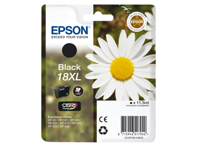 Inkcartridge epson t181140 zwart hc