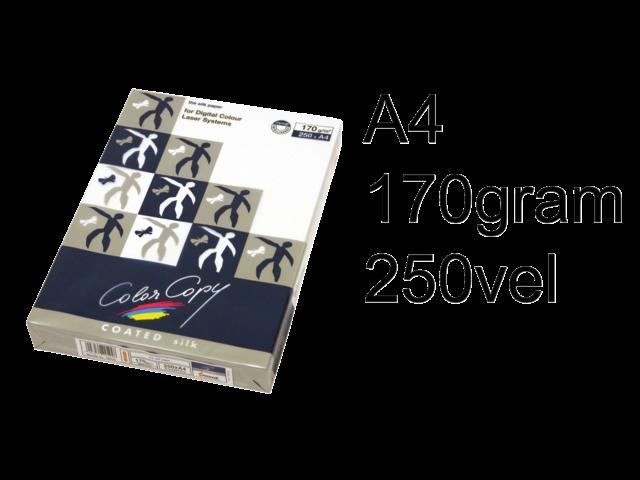 Laserpapier color copy silk coated a4 170gr wit 250vel