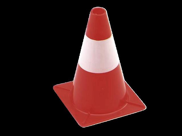 Afbakeningskegel 30cm rood wit
