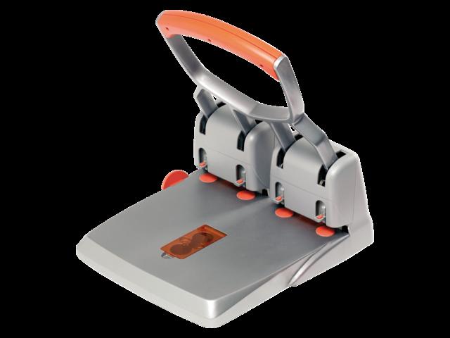 Perforator rapid hdc150 4-gaats 150vel zilver/oranje