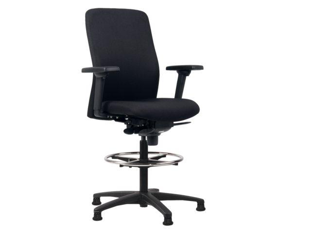 Bureaustoel hoog euroseats vigo zwart bestel uw bureaustoel hoog