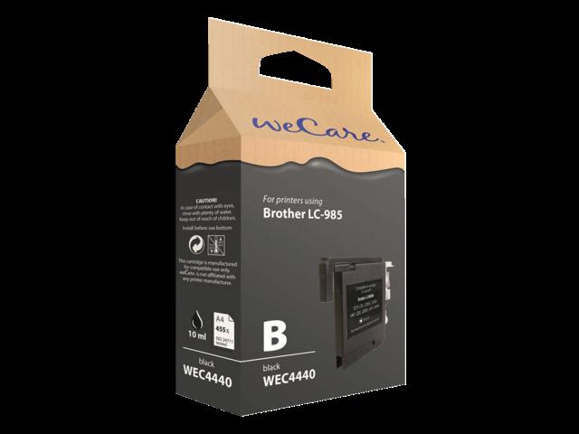 Inkcartridge wecare brother lc-985 zwart