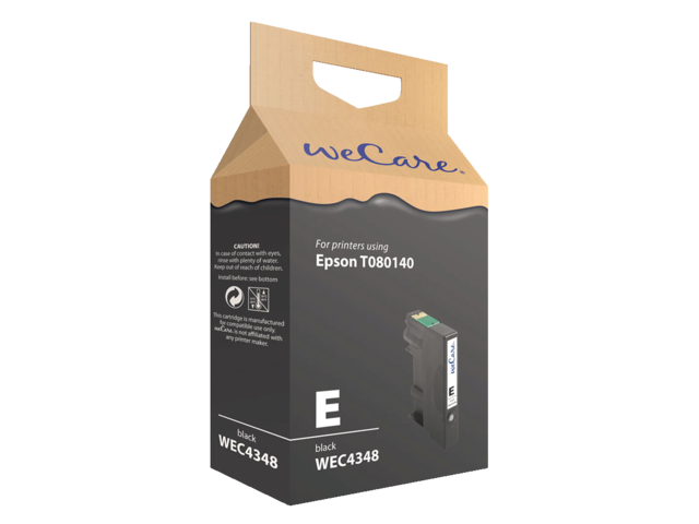 Inkcartridge wecare epson t080140 zwart