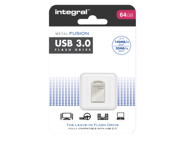 Photo: USB-STICK INTEGRAL FD 64GB METAL FUSION 3.0