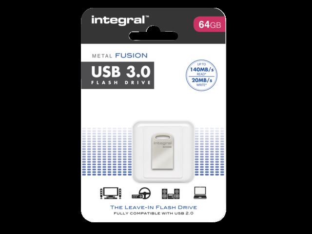 USB-STICK INTEGRAL FD 64GB METAL FUSION 3.0 2