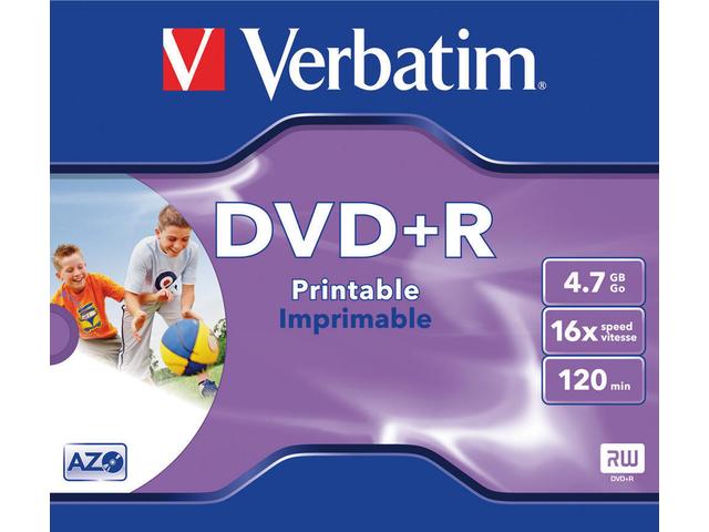 DVD+R VERBATIM 4.7GB 16X PRINTABLE JC