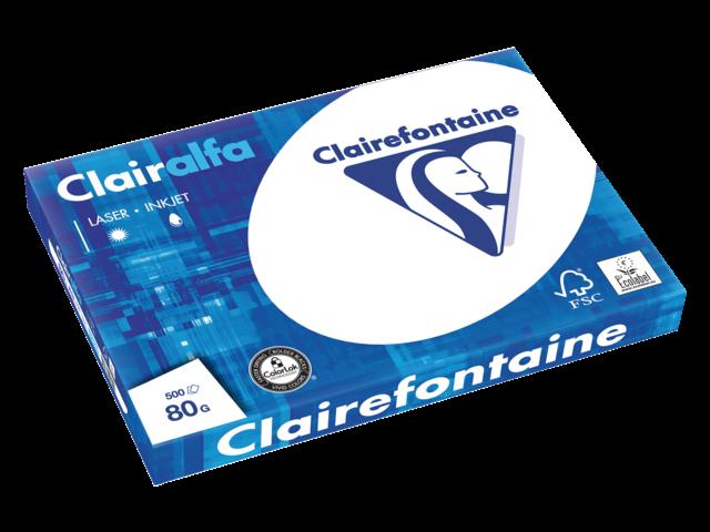 Kopieerpapier clairefontaine clairalfa a3 80gr wit 500vel