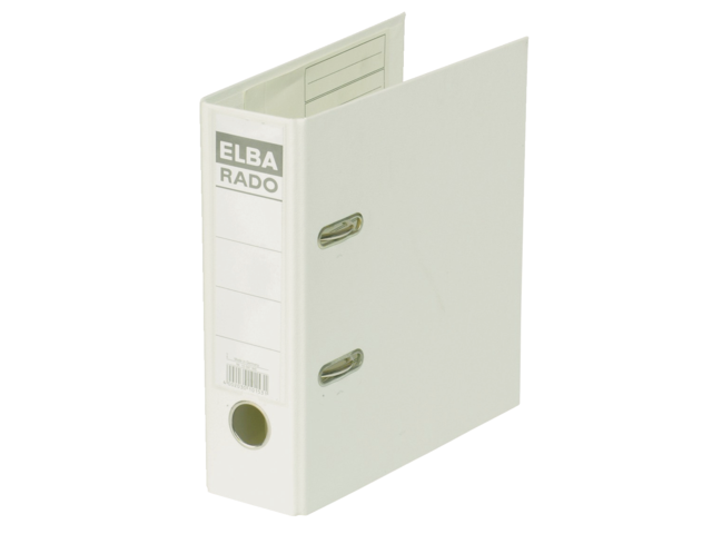 Ordner elba rado plast a5 staand 75mm pvc wit
