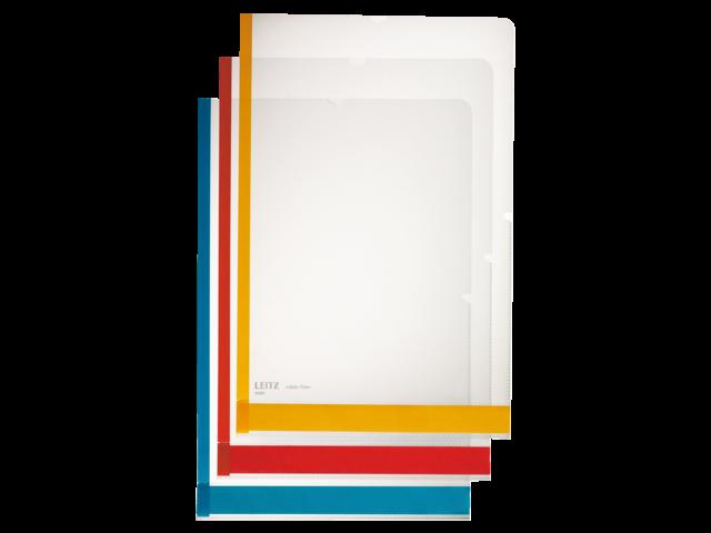 Insteekmap l-model leitz 4080 met gekleurde rand assorti