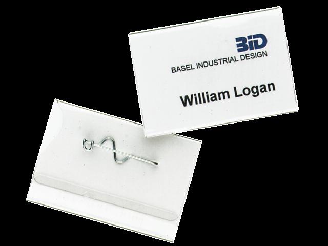 Badge durable 8100 met speld 40x60mm