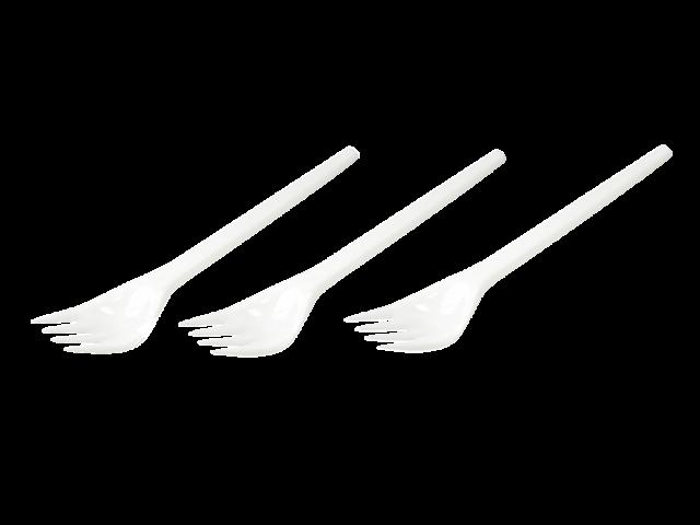 Vork bestek kunststof wit 100 stuks