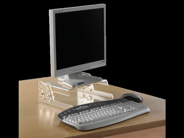 Flatscreenstandaard opus2 flatscreen hv 17/19inch transparan