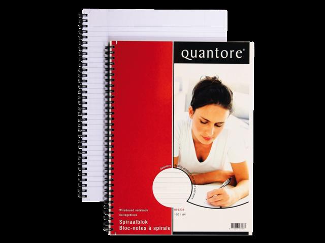 Quantore schrijfblok met dubbelspiraal