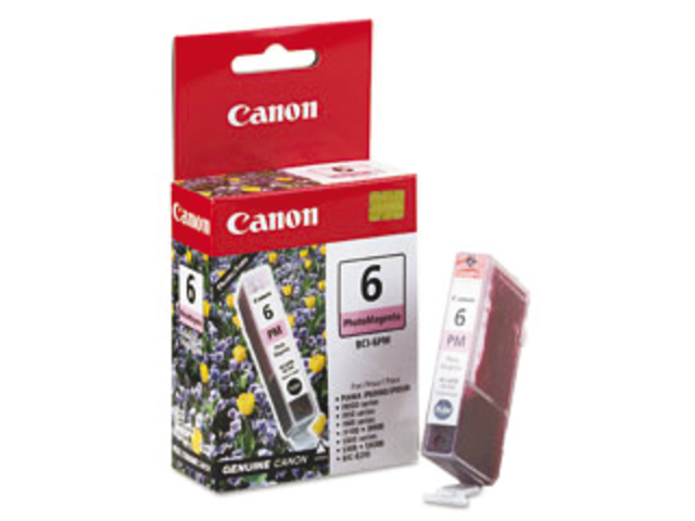 Inkcartridge canon bci-6pm lichtrood