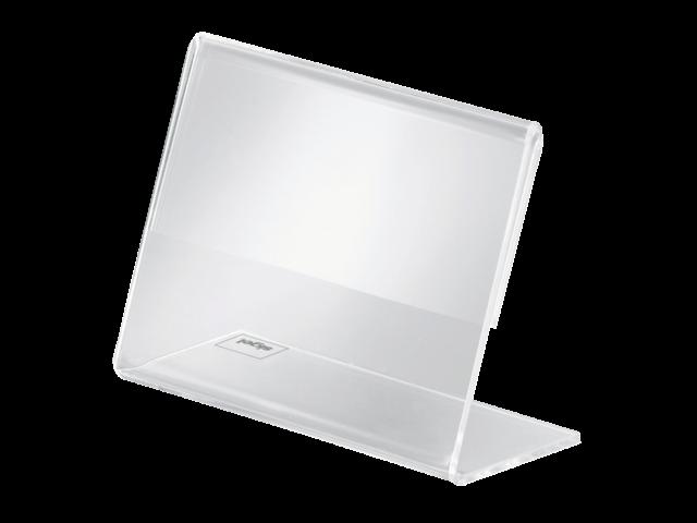 Tafelstandaard sigel pa107 90x60mm liggend transparant