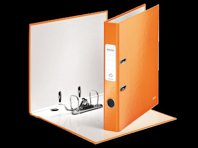 Ordner leitz wow 1006 50mm karton oranje