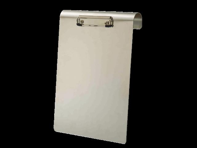 Klembord aluminium a4 staand 120mm met klem en hangbeugel