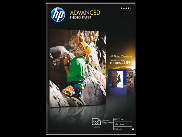 Inkjetpapier hp q8692a 10x15cm photo glossy 250gr 100vel