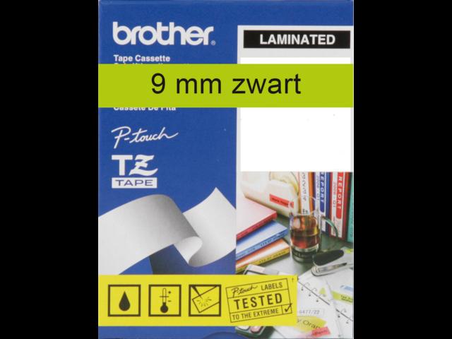 Labeltape brother p-touch tze721 9mm zwart op groen