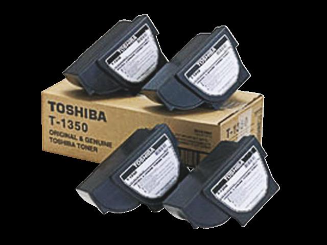 Tonercartridge toshiba t-1350 zwart 4x