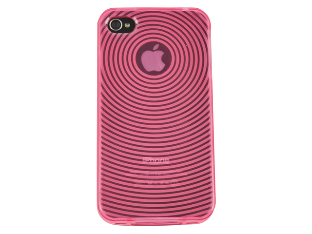 Telefoonhoes dresz tpu grip case iphone 4/4s roze