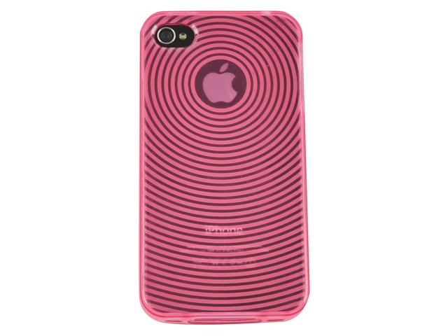 Telefoonhoes dresz tpu grip case iphone 4/4s roze