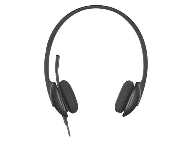 Headset logitech h340 on air zwart