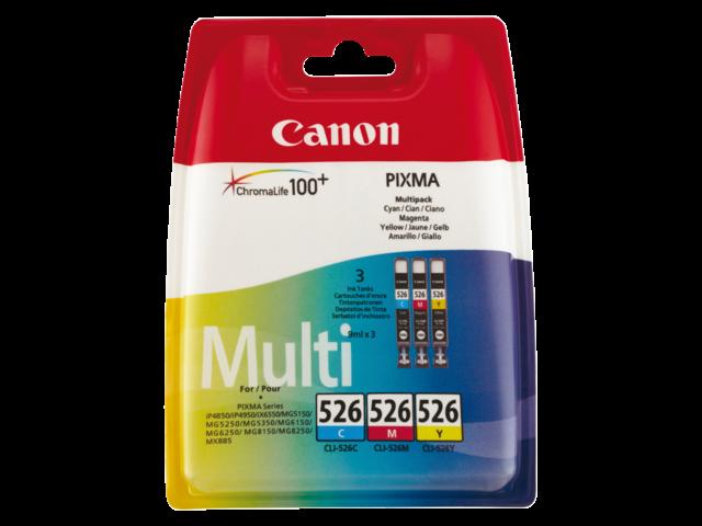 Inkcartridge canon cli-526 3-kleurenset