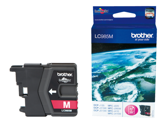 Inkcartridge brother lc-985m rood