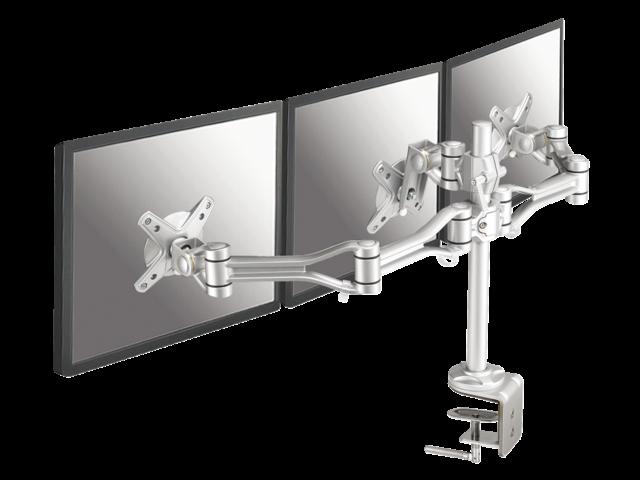 Flatscreenarm newstar d1030d3 3 schermen zilver