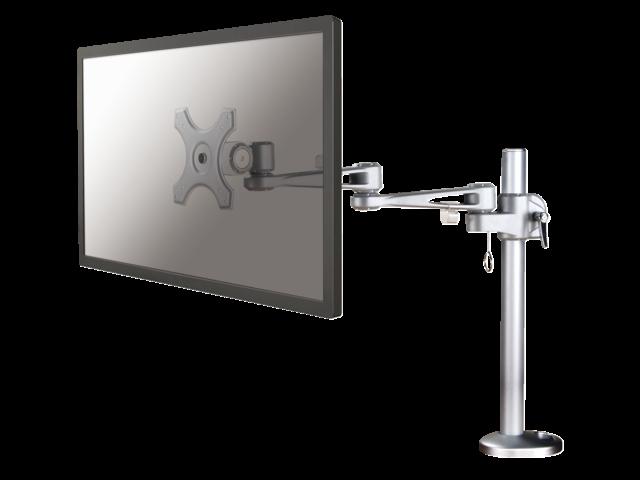 Flatscreenarm newstar d935g 1 scherm doorvoer zilver