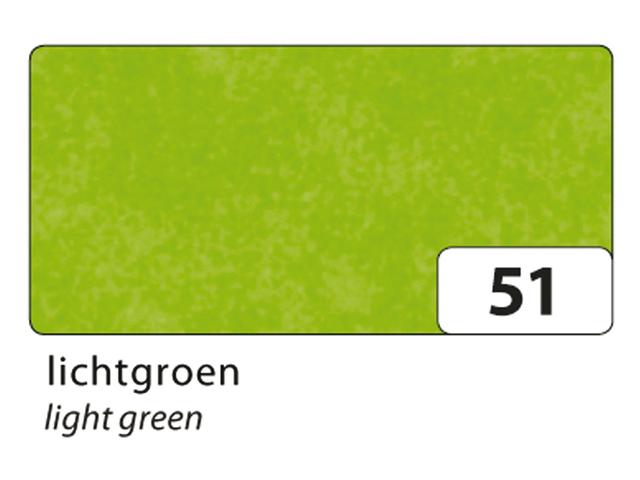 Zijdevloeipapier folia 50x70cm 20g nr51 lichtgroen set à 5v