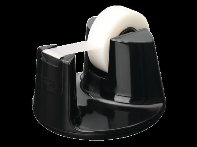 Plakbandhouder tesa compact zwart met 1rol tape 19mmx33m