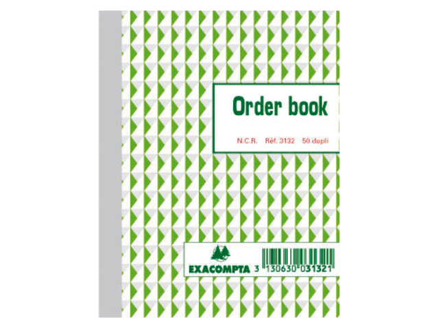 ORDERBOEK EXACOMPTA 135X105MM 50X2V