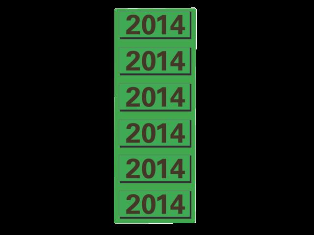 Rugetiket elba 2014 groen jaaretiket
