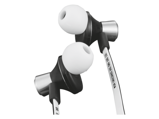 Headset trust urban revolt zipper in ear zwart/wit