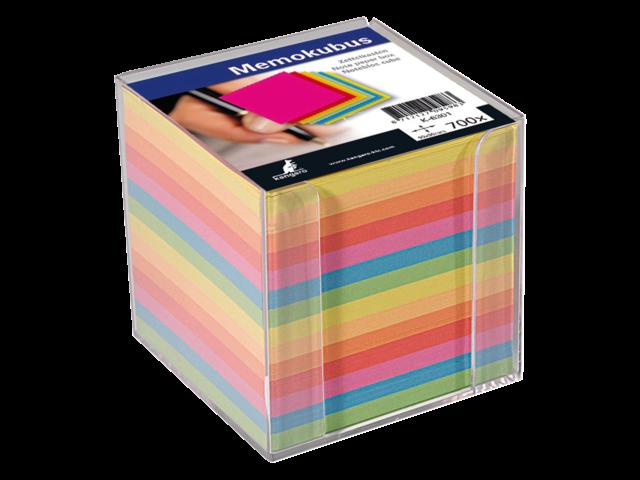 Memokubus kangaro 90x90mm transparant assorti kleuren 700vel