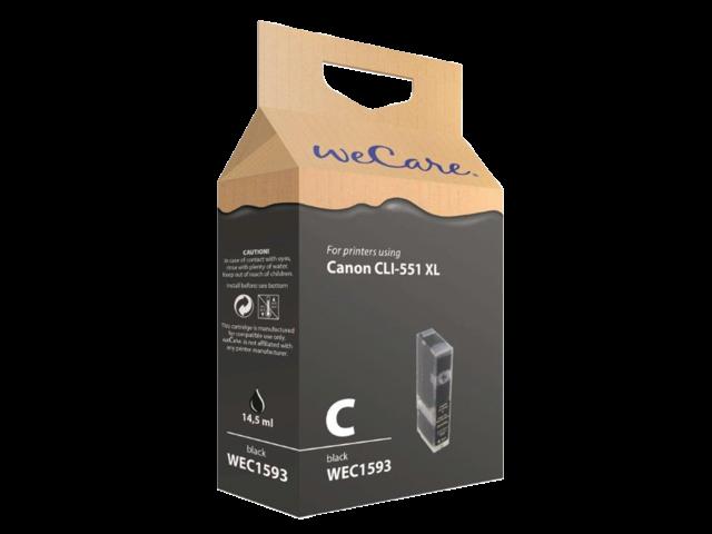 Inkcartridge wecare canon cli-551xl zwart